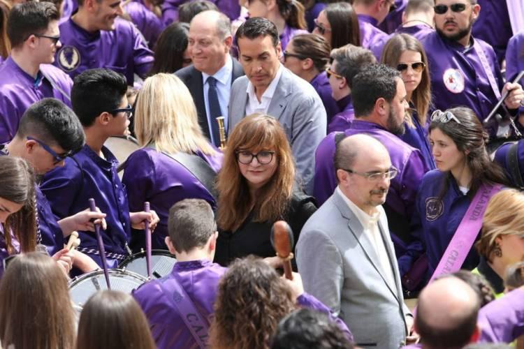 Isabel Coixet y Javier Lambán - Rompida de la hora 2017 (Foto Heraldo de Aragón)