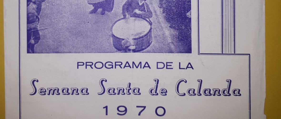 calandanazareno - Programa de la Semana Santa de Calanda 1970