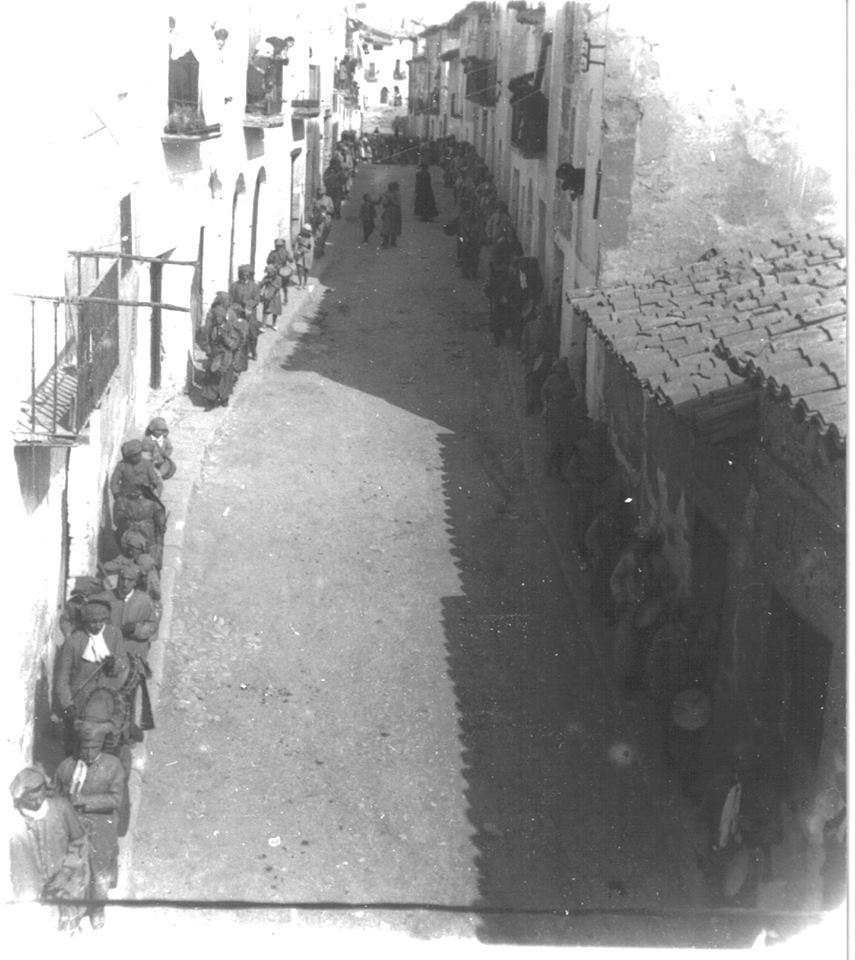 """Procesión de """"El Pregón"""" - Semana Santa de Calanda de 1924"""