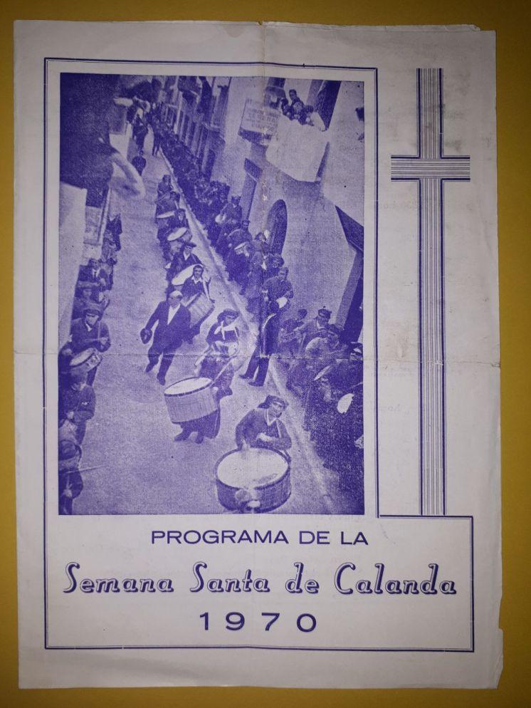 Programa de la Semana Santa de Calanda 1970 (1)