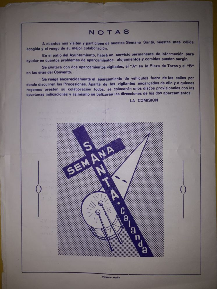 Programa de la Semana Santa de Calanda 1970 (4)