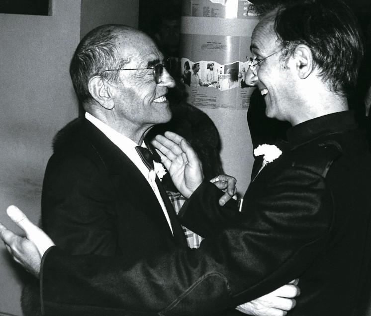 Luis Buñuel y Carlos Saura en San Sebastián 1977