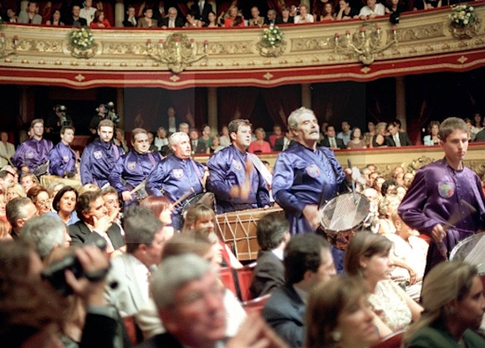 Tambores de Calanda en San Sebastián 1997 (Foto Agencia EFE)