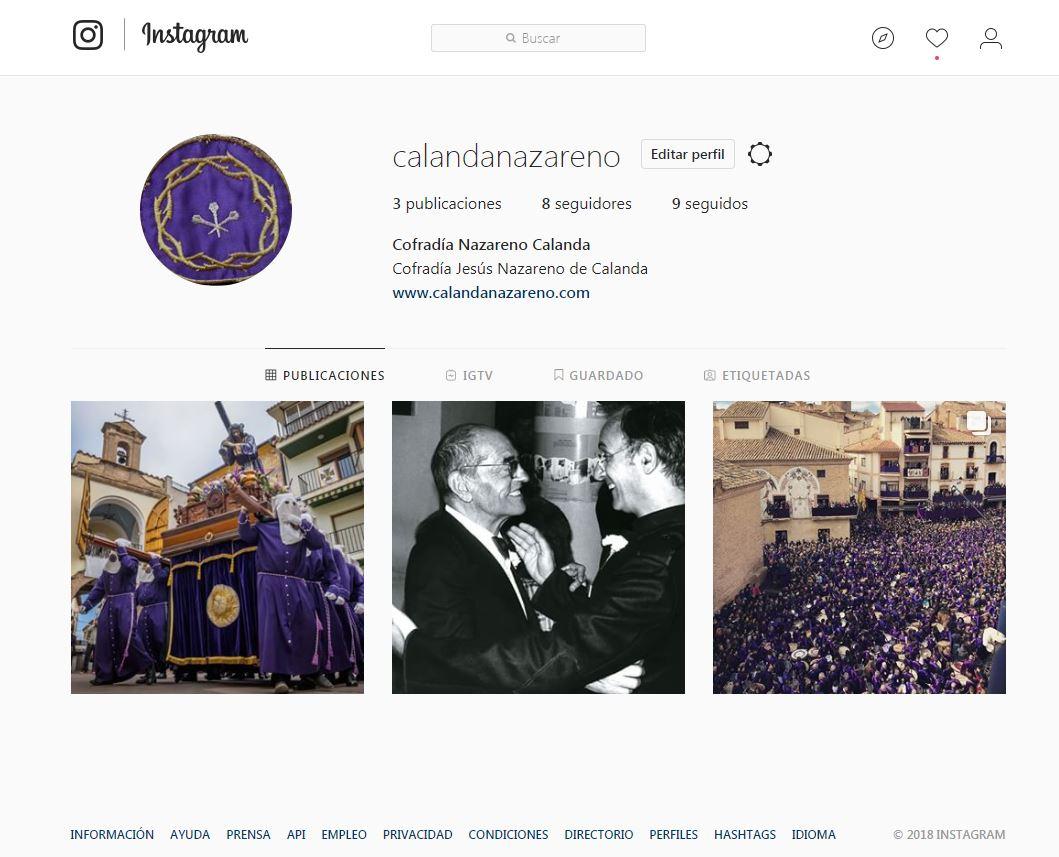 Instagram calandanazareno