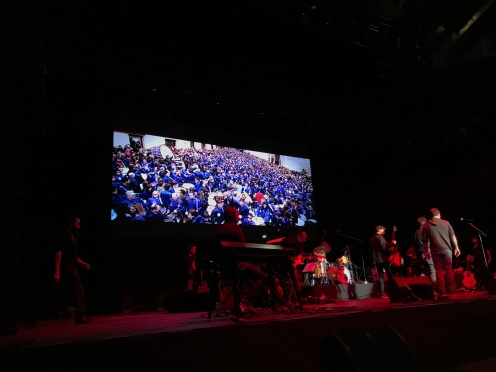 Tambores y Bombos de Calanda en el concierto homenaje a Luis Eduardo Aute, Madrid 10/12/2018