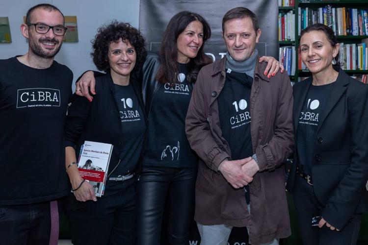 Sonia Asencio con Ignacio Martínez de Pisón - CIBRA 2018