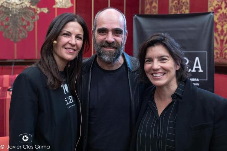 Sonia Asensio con Luis Tosar - CIBRA 2018