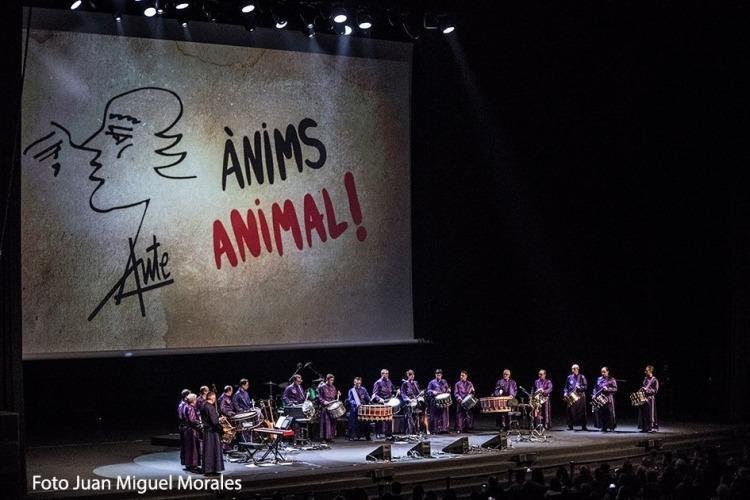 Tambores de Calanda - Animo Animal - Barcelona 02-02-2019 (foto de Juan Miguel Morales)