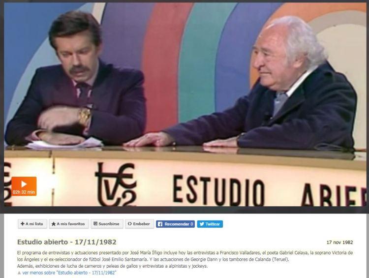 Estudio Abierto RTVE 17-11-1982