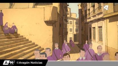 """""""Buñuel en el laberinto de las tortugas"""" (imagen de Aragón Noticias de Aragón TV)"""