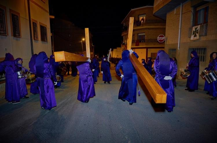 Vía Crucís al Calvario - Semana Santa Calanda 2018 (Foto de Manuel Cobano)