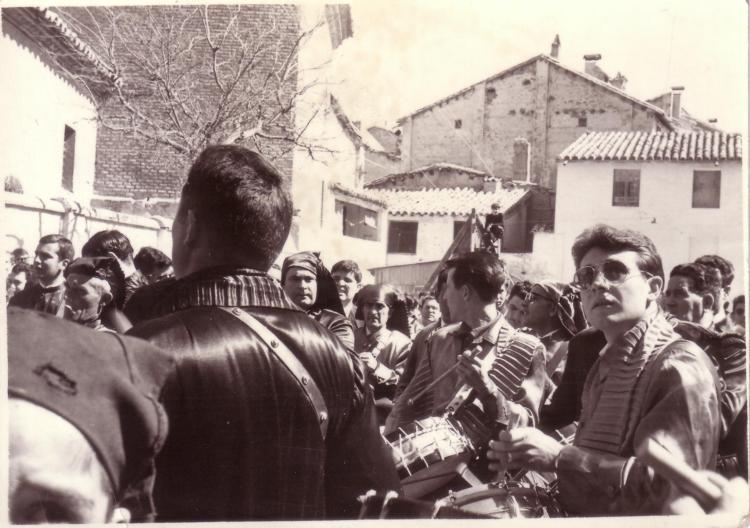Miguel Magrazó en la Rompida de la hora en la plaza de la hoya